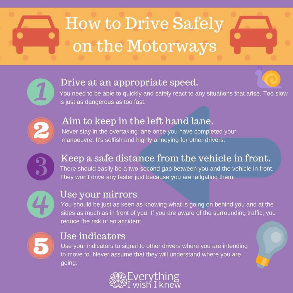 Infographic: How to Drive Safely on the Motorways