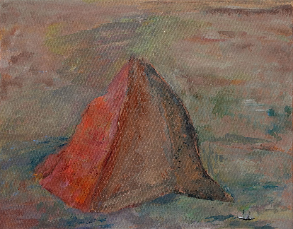 "Galapagos #18, acrylic on canvas, 11x14"""