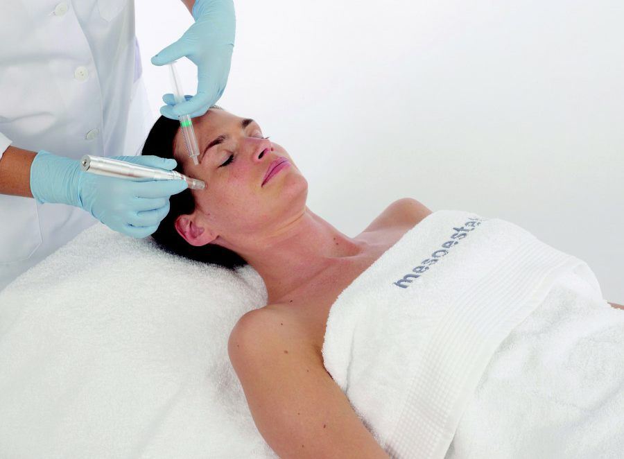 Utilising advanced micro needling to open pores, we then infuse Mesotherapy solution.