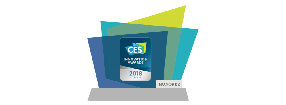 A mockup of the innovation award that CES sent us. Kinda cute!