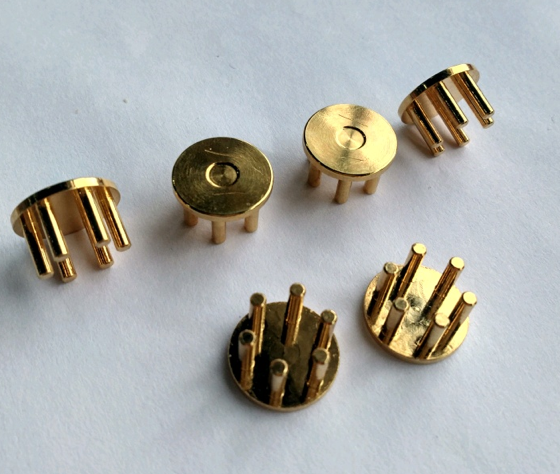 After gold plating.