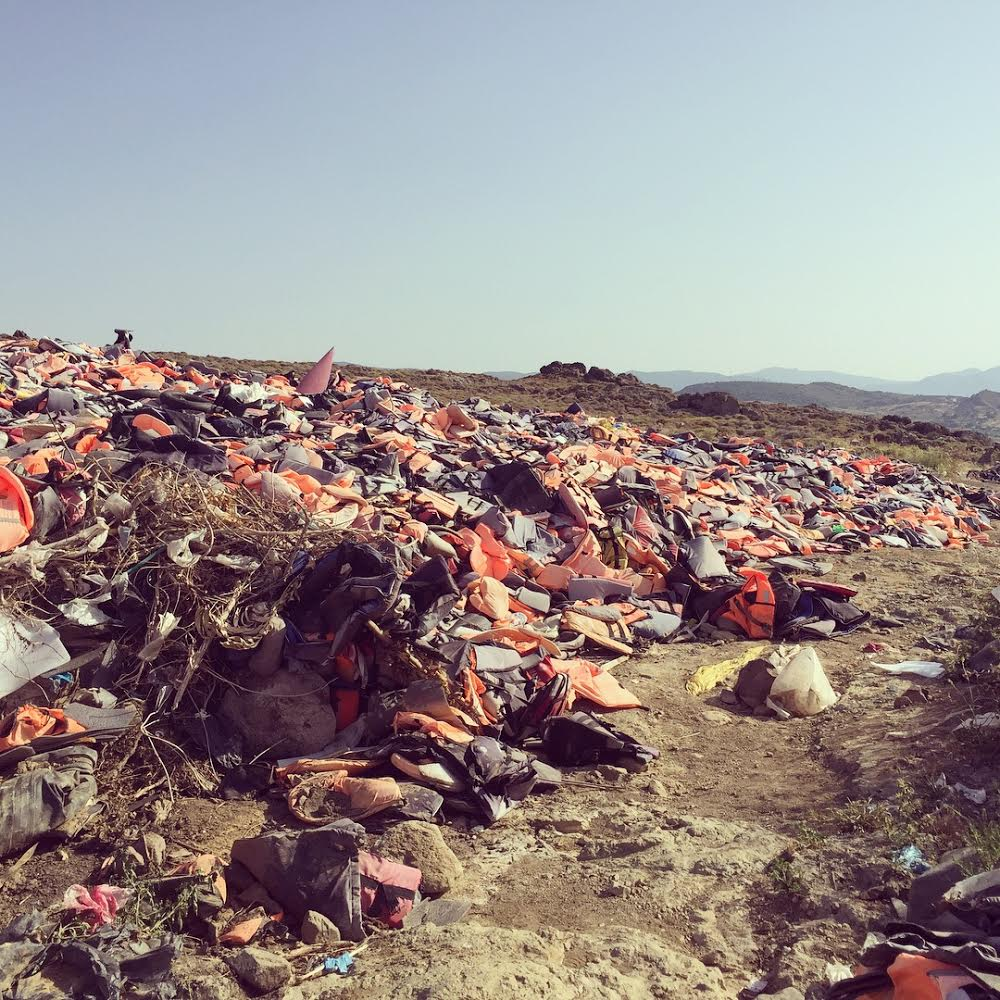 picture of the lifejacket graveyard that Mia mentioned.