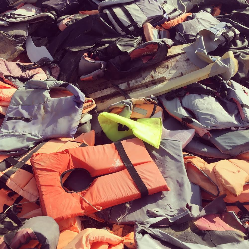 life jacket grave yard