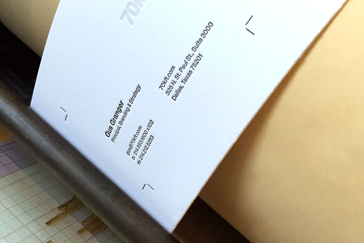 Letterpress Business Stationery