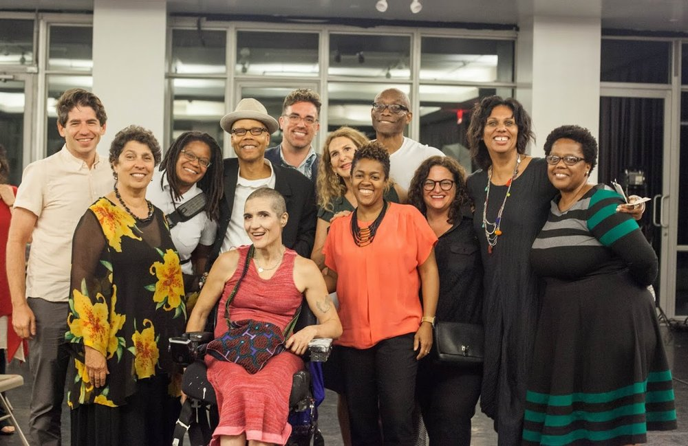 """With Bill T. Jones, Lauren Ruffin, Michelle Coffey, Jamie Bennett, Theresa Byrnes, and others at the """"What Will Be Different"""" panel at New York Live Arts"""