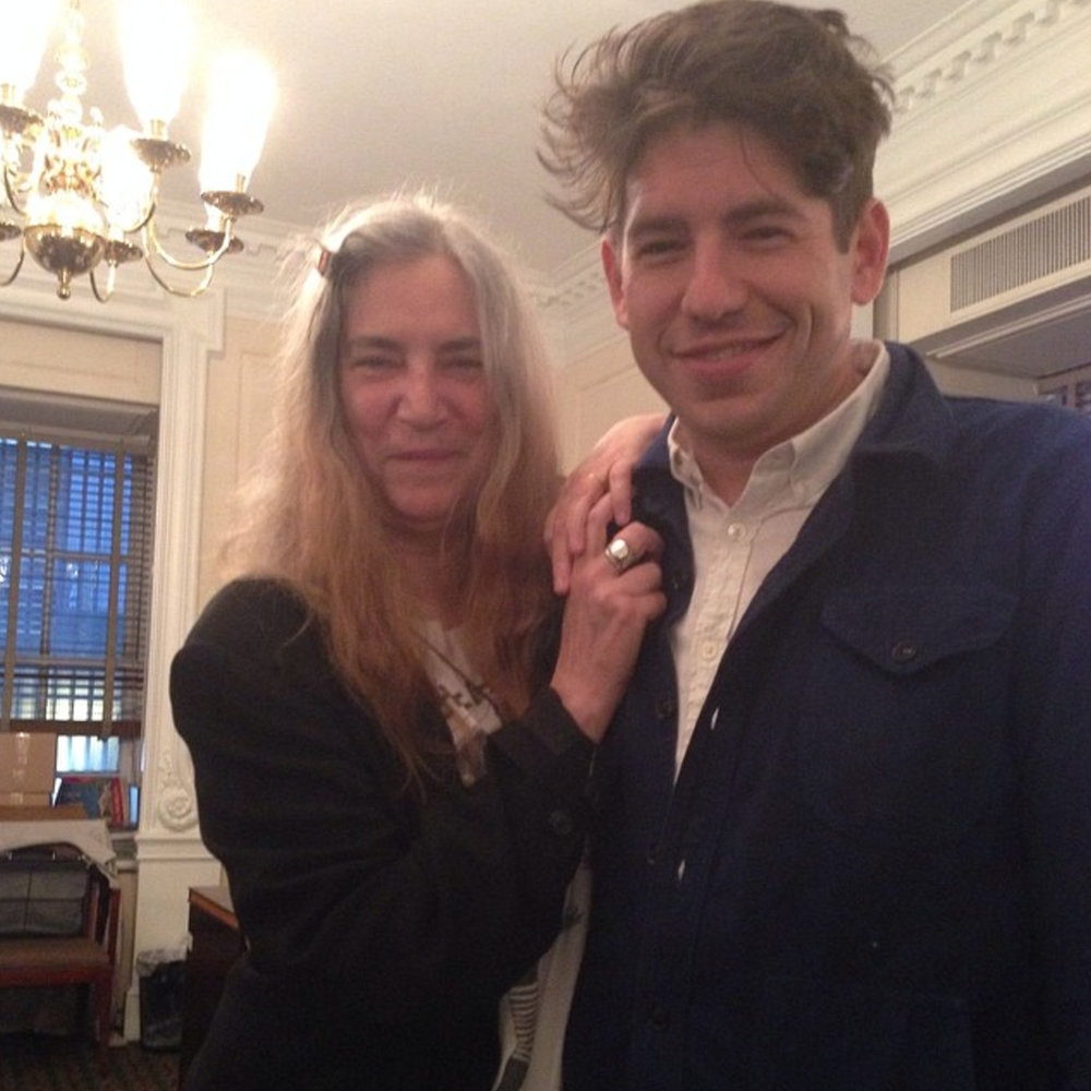 With Patti Smith and crazy hair