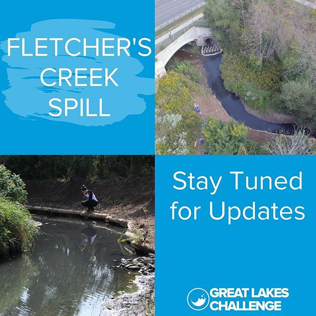 Last week was a hard week but we are glad we could be there to report and document this spill in redside dace habitat.  Stay tuned on our website for the latest news.  #GLC2017 #SavetheRedsideDace  #swimdrinkfish