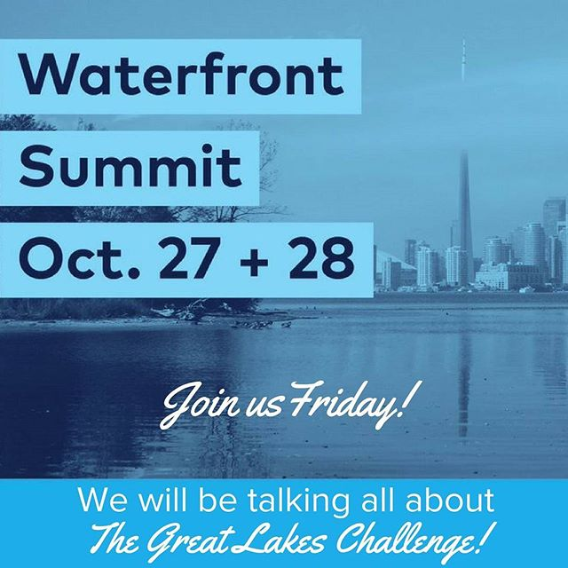 This Friday we will be presenting at day one of the Waterfront Summit presented by Waterfront for All. Hope you see you there!  #GLC2017 #swimdrinkfish
