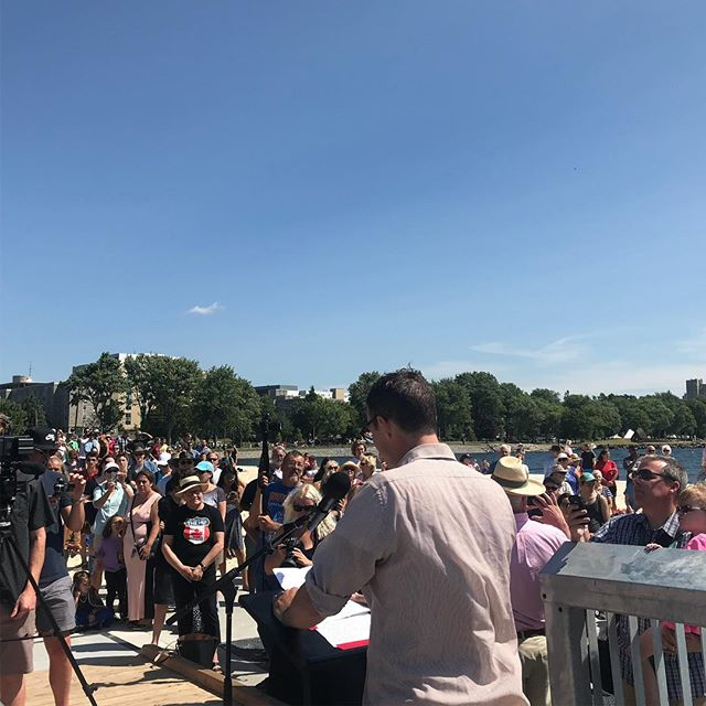 """""""This Park is our waterfront. It is our sanctuary. It is a constant in our families' lives."""" Patrick Downie speaks to the significance of this pier to the city and the lake. It is a symbol of Gord's love for this Great Lake. It gives us all honour and pride. Grateful. #swimdrinkfish"""
