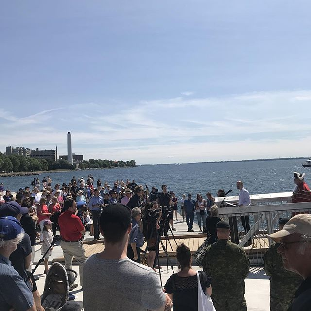 The Mayor of Kingston says this space should set the standard for a 21st Century urban waterfront space. #hearhear #swimdrinkfish