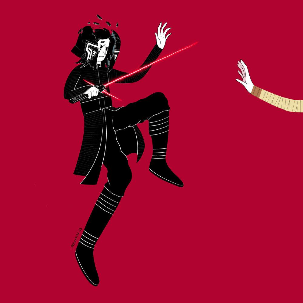 Kylo vs Rey.