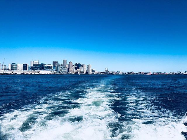 See you later 📍Boston, Massachusetts . . . . #motoryacht #yacht #yachting #boat #boatlife #yachtlife #charter #charteryacht #charterboat #city  #ocean #blue #photography #view #beautiful #awesome #amazing #westport #farniente