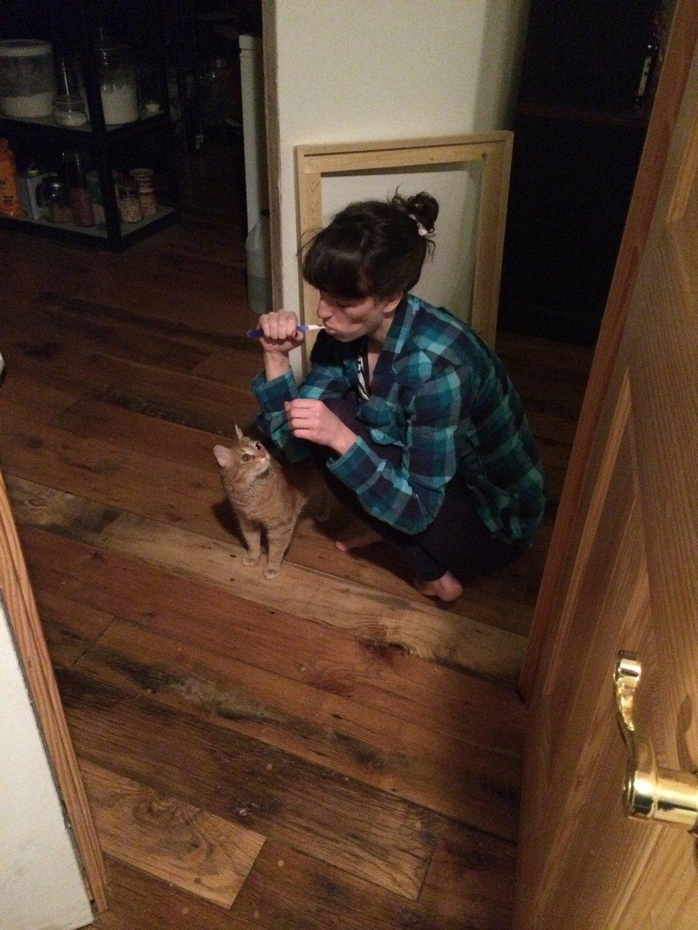brushing my teeth? yep, still an artist