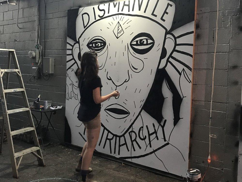 working on my final piece