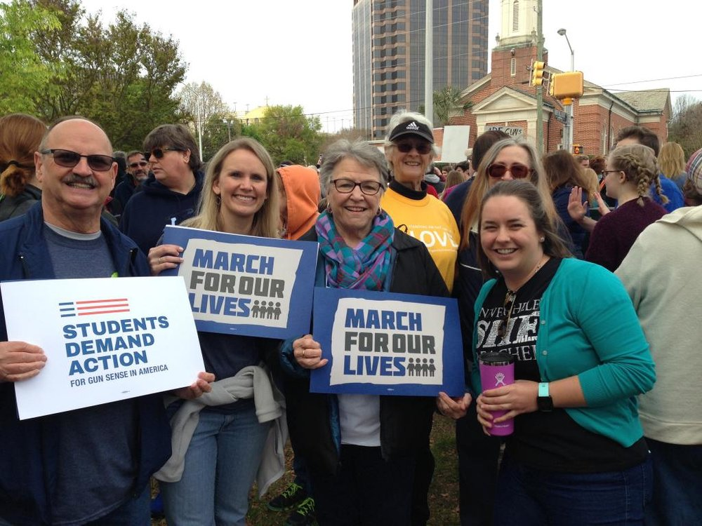 Jerry Basden, Lisa Davis Brownlee, Annis Rankin, Pastor Judith Myers at the March for Our Lives (Columbia, SC/March 24, 2018)