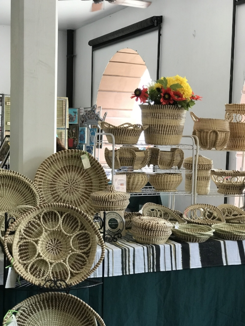 Handwoven Baskets made by the Gullah people