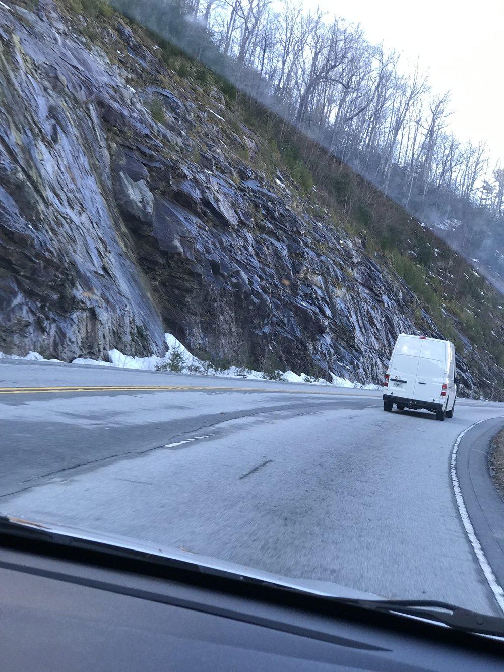 Roads were a little tricky!