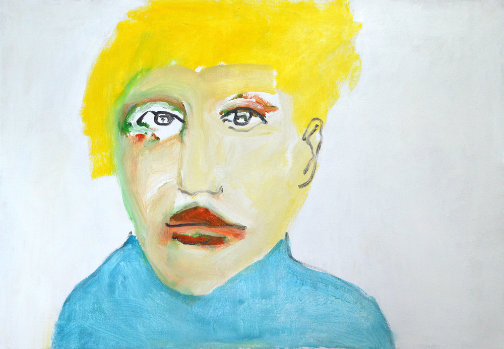 Blonder , 2009 Acrylic on canvas 33 x 48.5 in. (84 x 123 cm.) Photography courtesy of Joshua DeMello