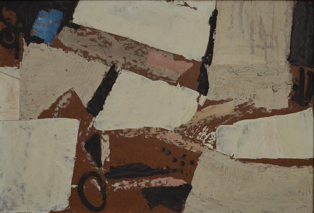 Landscape , 1958. Oil on hardboard (masonite), 15 x 22 in. (38 x 56 cm.)