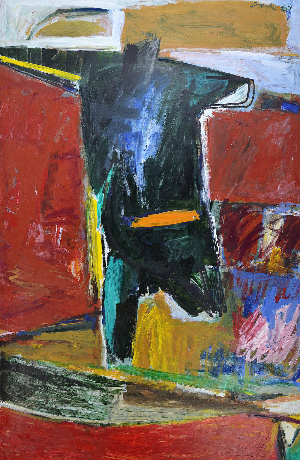 Lurch , 1967. Oil on hardboard (masonite), 72 x 48 in. (183 x 122 cm.)