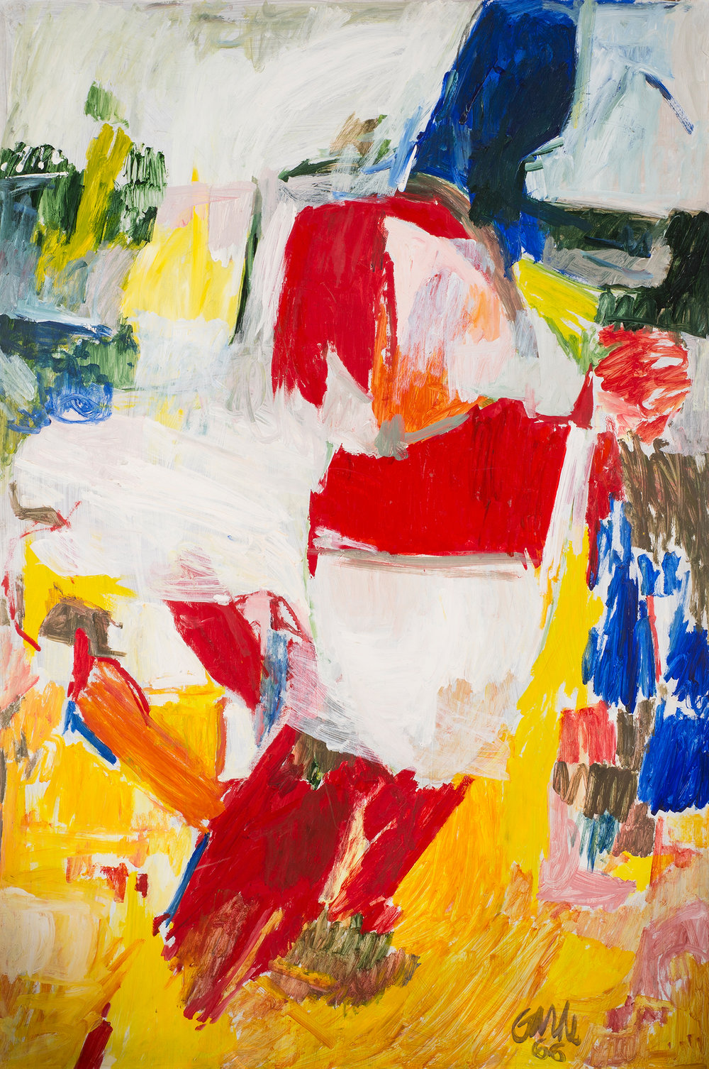 Beacher , 1966. Oil on hardboard (masonite), 72 x 48 in. (183 x 122 cm.)