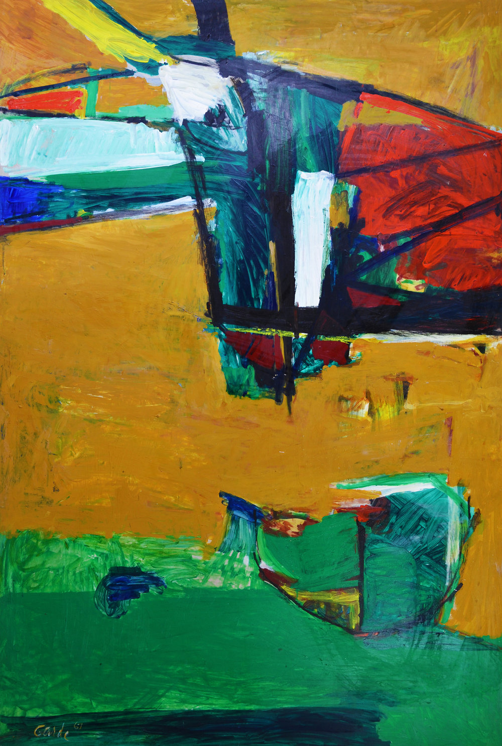 Launch , 1967. Oil on hardboard (masonite), 72 x 48 in. (183 x 122 cm.)