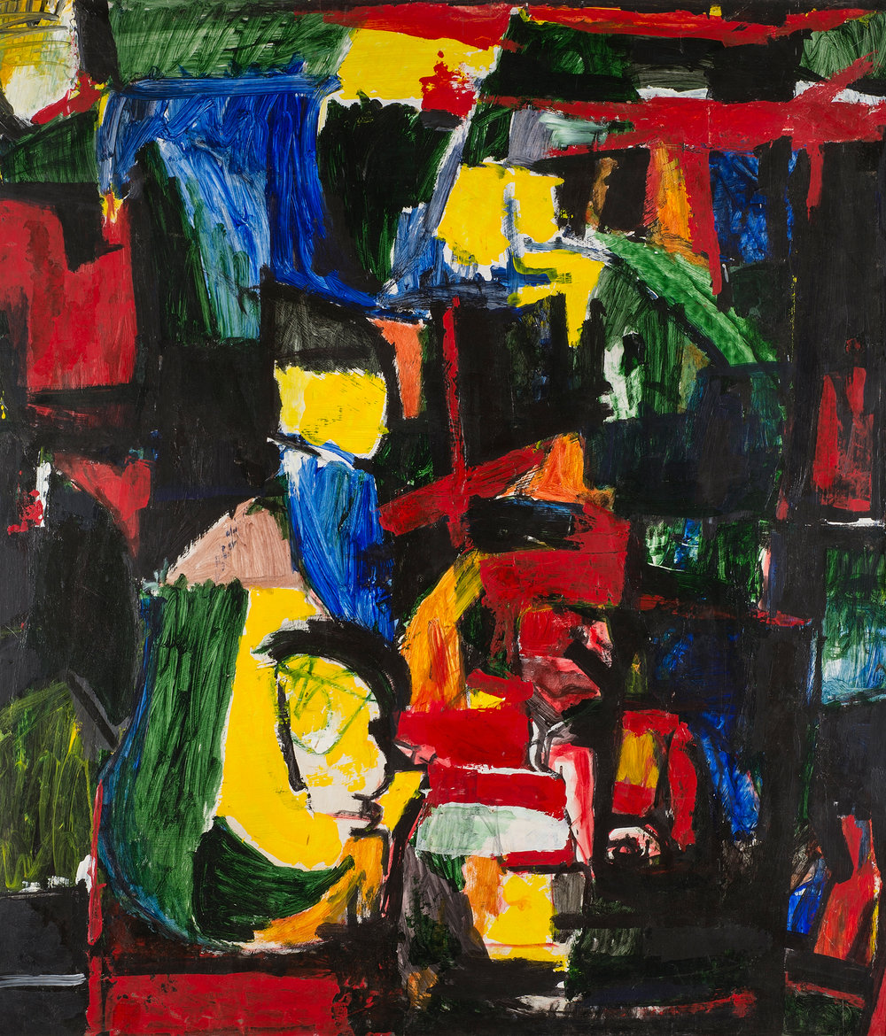Yellow Profile , 1970. Oil on hardboard (masonite), 48 x 42 in. (122 x 107 cm.)