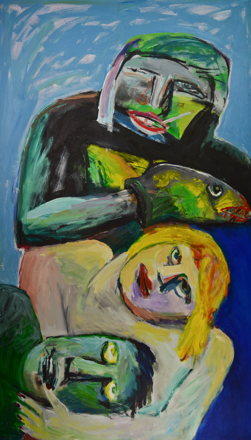Untitled,  1993, Acrylic on canvas,  84 x 48 In. (213 x 121 cm.)