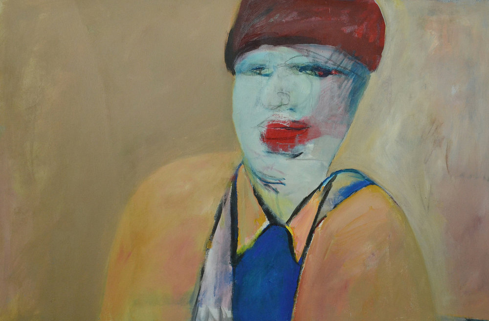 Red Hat , 1999. Acrylic on canvas, 36 x 55 in. (91 x 140 cm.)