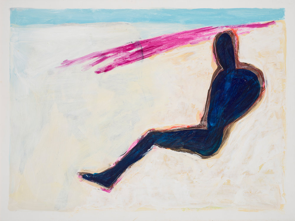 "Untitled , from the series ""Hamlet"", 1990. Acrylic on paper, 22 x 30 in. ( 56 x 76 cm.)"