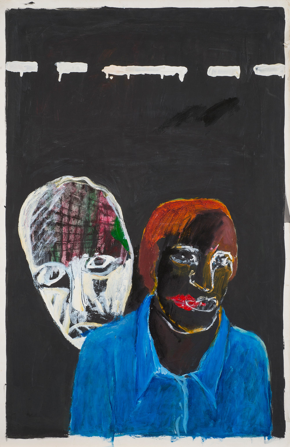 Untitled , 1991. Acrylic on paper, 40 x 26 in. (101.6 x 66.04 cm.)