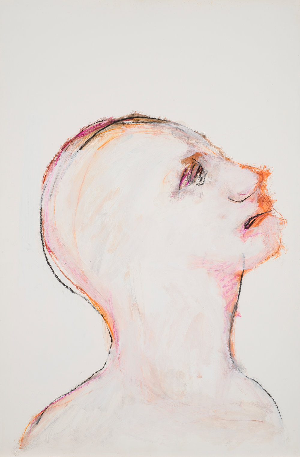 Untitled,  c. 1990 Acrylic, charcoal on paper 38 x 25 in. (96.5 x 63.5cm.)