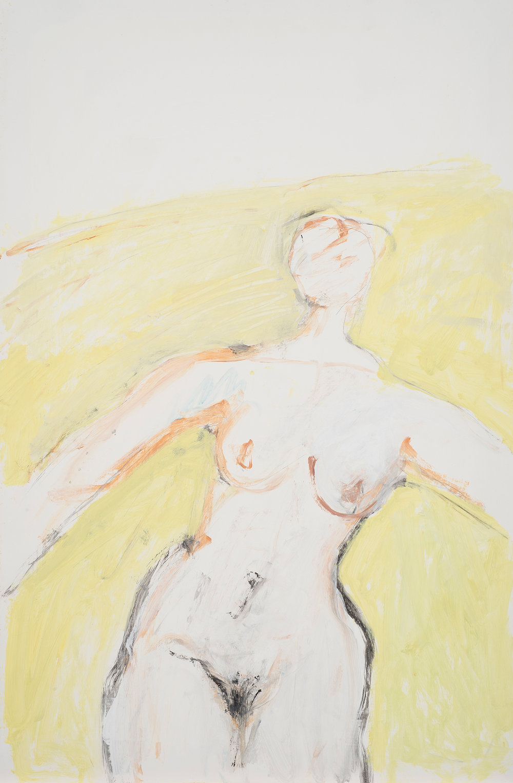 Untitled, 1986. Acrylic on paper. 35 x 23 in. (88.9x 58.42 cm.)