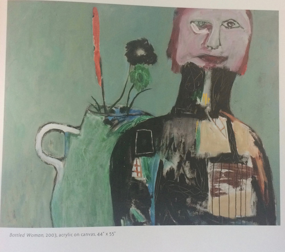 2.4 2003 Bottled Woman Acrylic on Canvas 44 x 55
