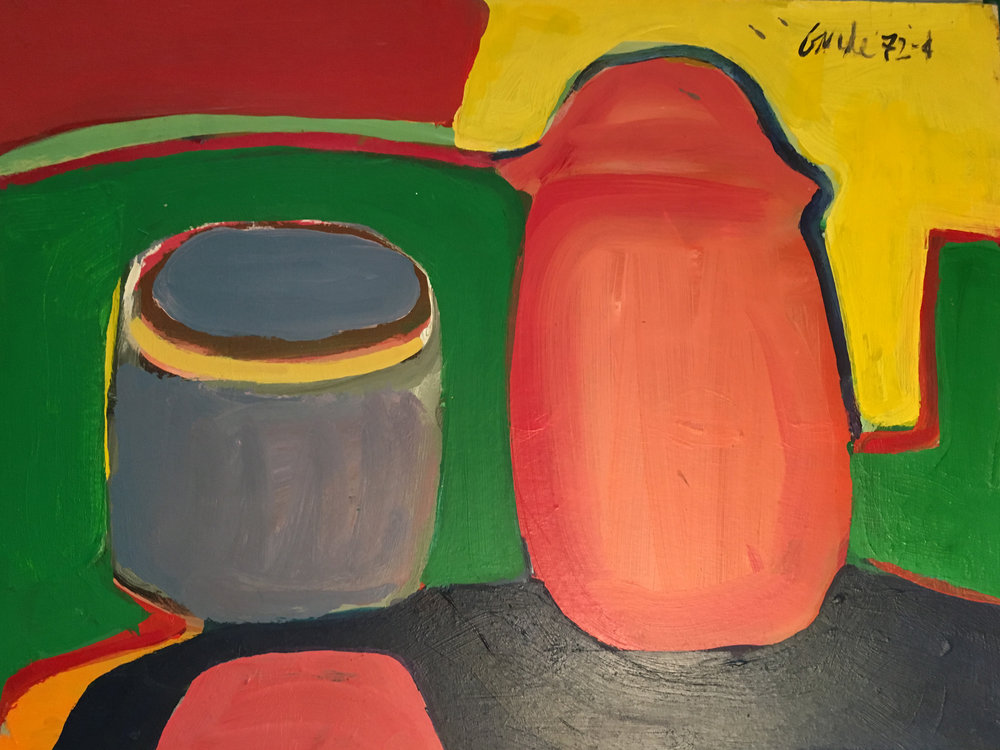 Untitled (from Journal),  1972-74. Acrylic on paper,  14 x 17 in. (35.6 x 43 cm.)