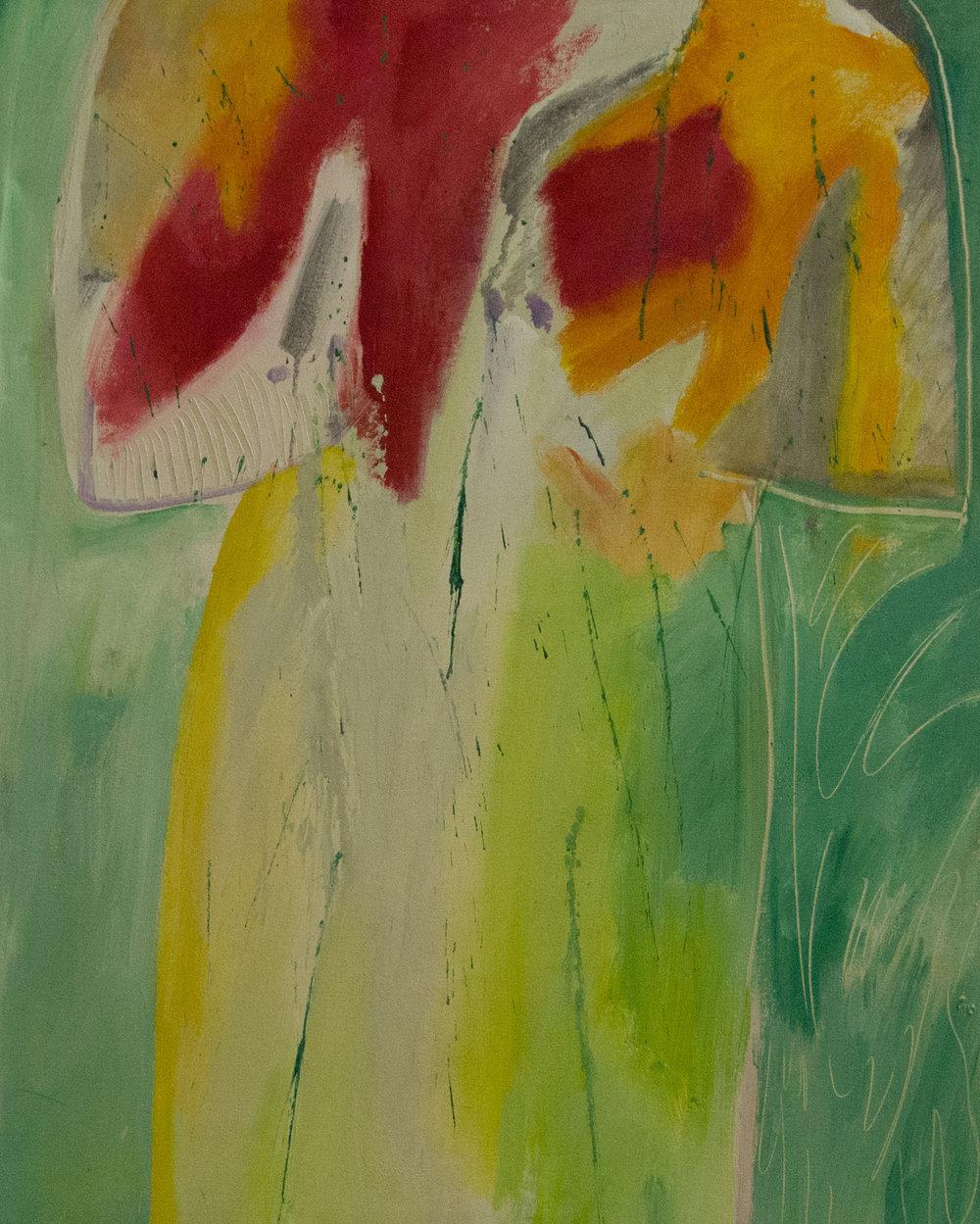 Springtime Kimono,2003. Acrylic on canvas, 43 x 30 in. (109 x 76 cm.)