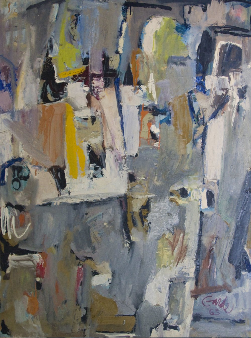 B Secret , 1965. Oil on hardboard (masonite), 48 x 36 in. (122 x 91.4 cm.), Private Collection