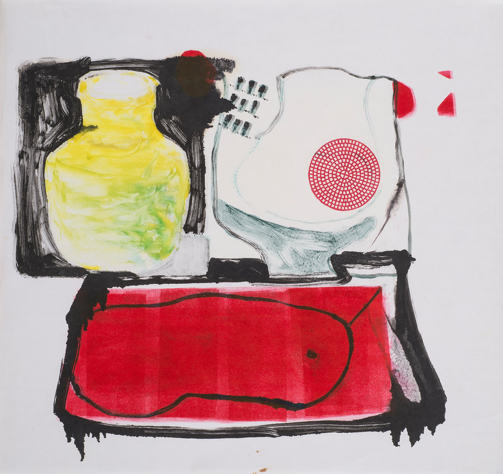 Untitled , 1987. Monotype on paper, 21.5 x 21.5 in. (54 x 54 cm.)