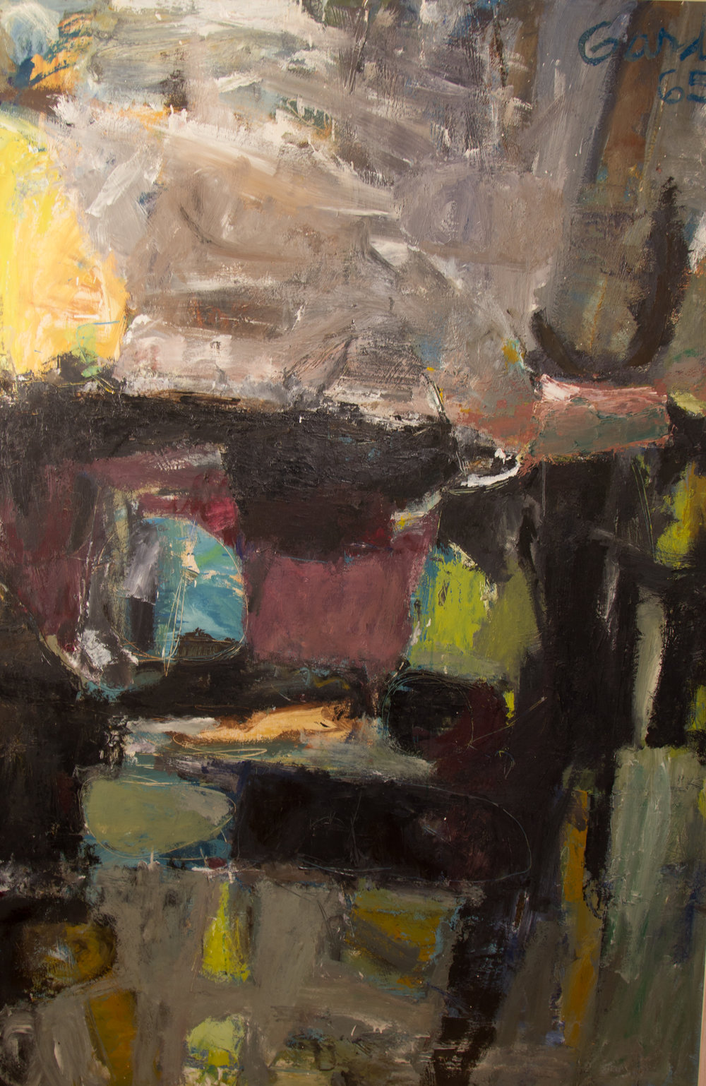 Dark Landscape , 1965 Oil on hardboard (masonite) 72 x 48 in. (183 x 122 cm.) Collection of The Orlando Museum of Art, FL
