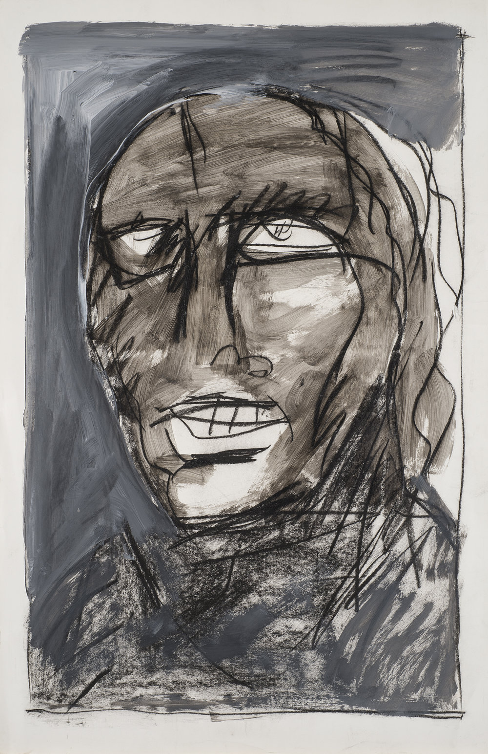 Untitled , 1984-85 Acrylic, charcoal on paper 23 x 31 in. (78 x 58 cm.) Photography courtesy of Paul Mutino