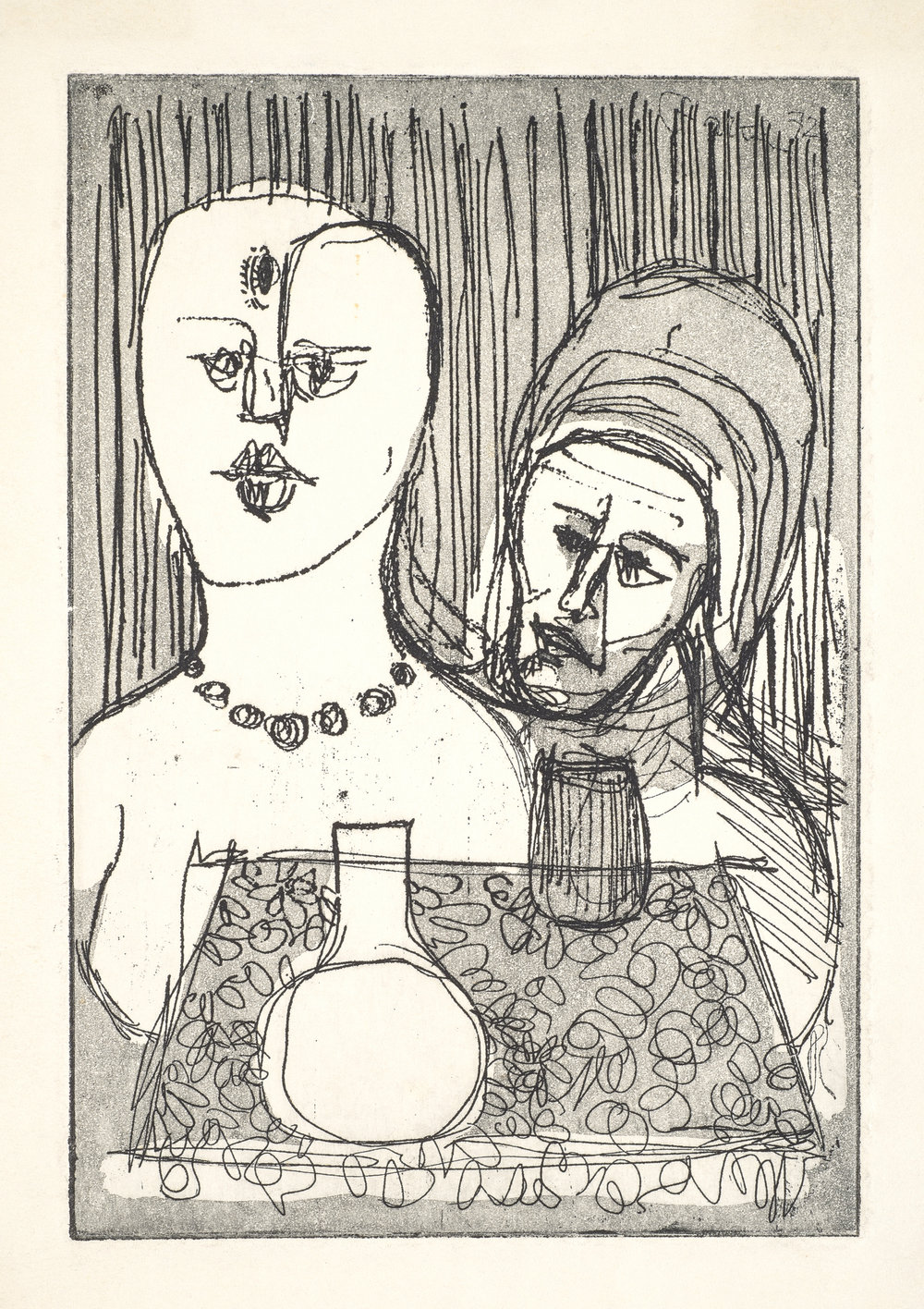 Love Potion , 1974 Intaglio etching 7 x 5 in. (17 x 12 cm.) Photography courtesy of Joshua DeMello