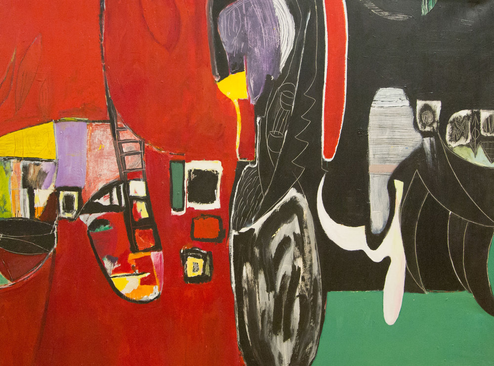 At Pasture , 2006. Acrylic on canvas, 43 x 55 in.(109 x 140 cm.)