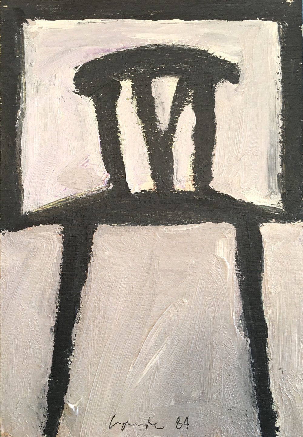 Chair , 1984. Acrylic on paper,  40 x 30 in. ( 102 x 76 cm.)