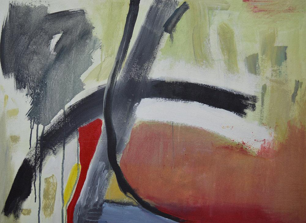Trekk, 2011. Acrylic on canvas, 25 x 34 in. (63.5 x 86.4 cm.)