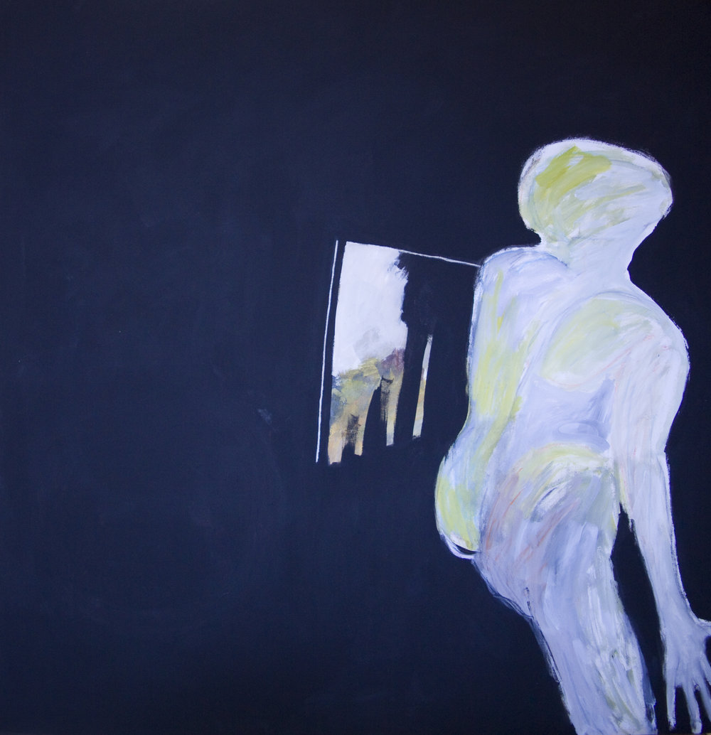 Viewer, 1984. Acrylic on canvas,  66.5 x 66 in. (167 x 167 cm.)