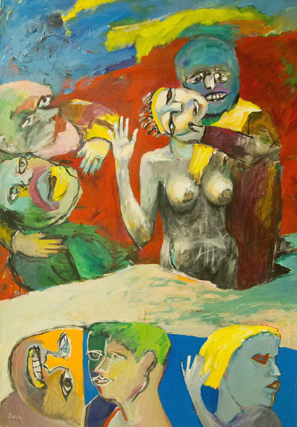 Consequence of Ritual, 1984. Acrylic on canvas,  80 x 57 in. (203 x 145 cm.)