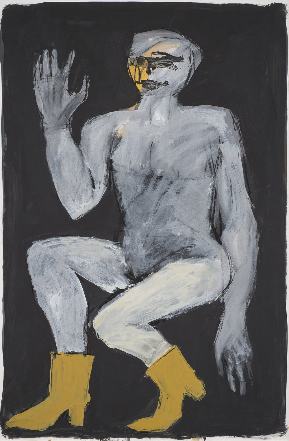 Untitled, 1987. Acrylic on paper, 35 x 23 in (88.9 x 58.4 cm.)