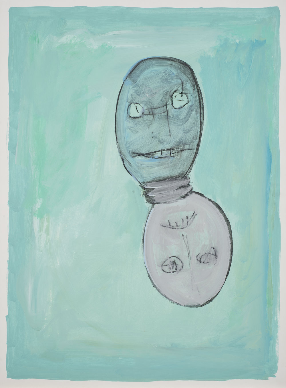 Untitled , 1991. Acrylic on paper 35 x 23 in. ( 88.9 x 58.42 cm.)
