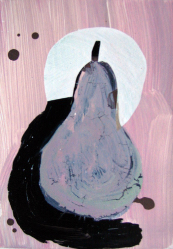 Untitled, 2004.  Acrylic Strappo mounted on paper, 10 x 7 in. (25 x 17 cm.)