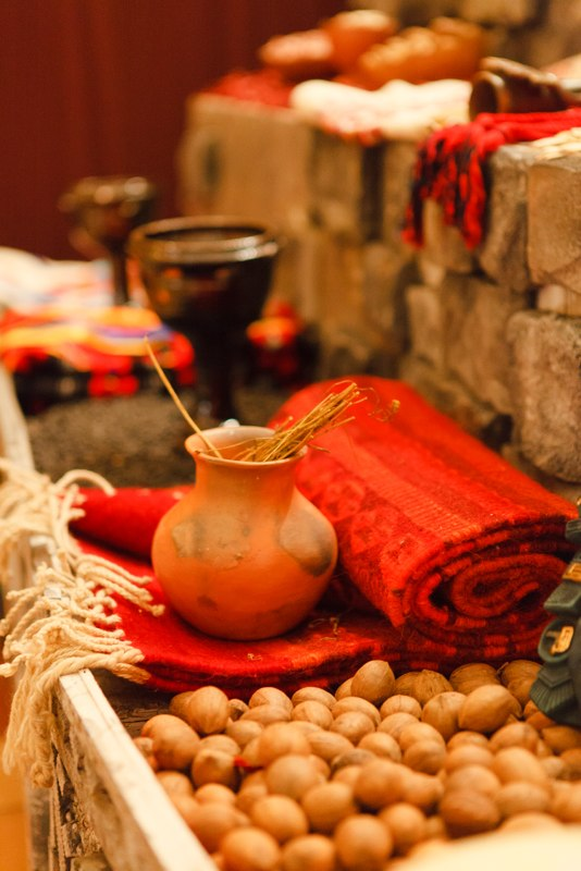 WATER - is placed in a container for the soul to quench its thirst after the long awaited journey to the altar. Water is also used for the means of purification.